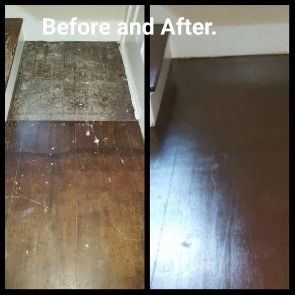 Before & After Wood Floor Refinishing in Providence, RI (1)