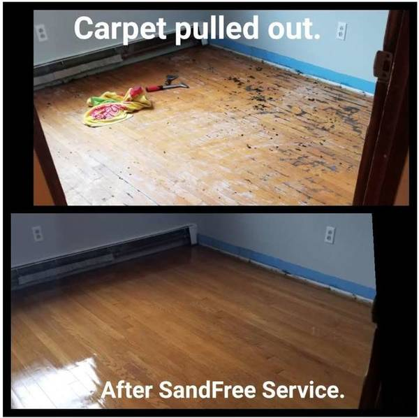 Before & After Wood Floor Refinishing in Johnston, RI (1)