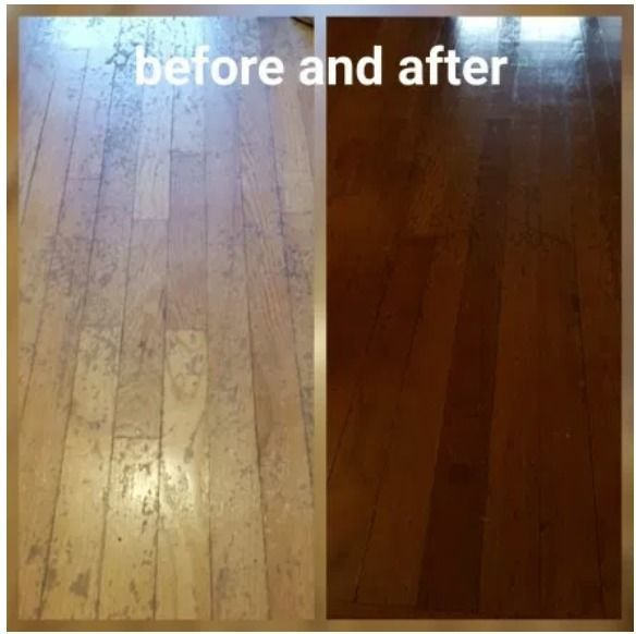 Before & After Wood Floors Refinishing in Woonsocket, RI (1)